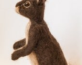 Needle Felted Rabbit Hare, Soft Sculpture Hare, Felted Bunny, Easter Bunny
