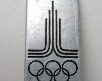 Small old vintage USSR Soviet union pin badge - olympic symbol