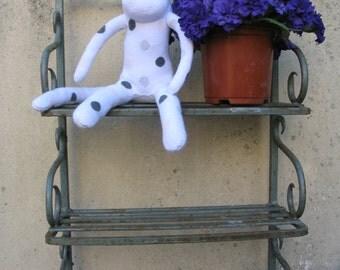 White Spotty Sock Monkey