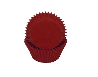 Solid Red Baking Cups