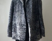 Vintage Silver Grey Persian Lamb Coat