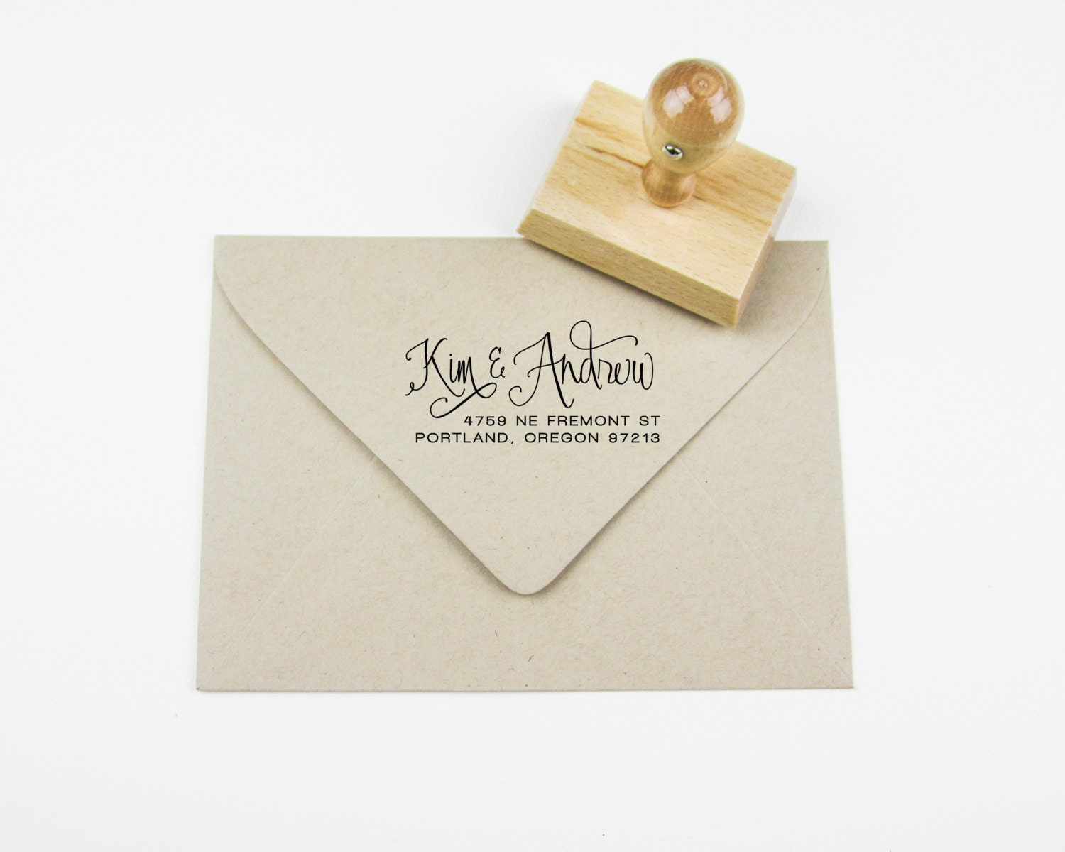 Custom Calligraphy Address Stamp A0304 From Papersushi On