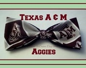 BowTie Made From Texas A&M Fabric - Show Everyone That You Support The Aggies by wearing this Great Maroon-N-White Bow Tie - 1.99 SHIPPING