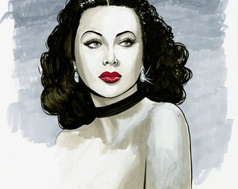 Hedy Lamarr Original Illustration