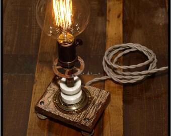 Industrial steam-punk lamp