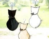 Stained Glass Cat Suncatcher, Custom Colors, Cat Decor, Window Ornament, Hanging Decoration, Pet Lover Gift, Handmade