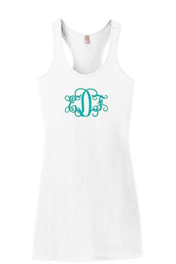 Monogram Tank Dress Racerback Racerback Tank Dress By