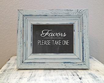 INSTANT DOWNLOAD - 5x7 Wedding favor sign - printable wedding favor sign - DIY printable
