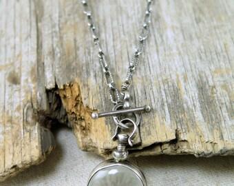 Mommy Jewelry Glass Locket Heirloom Photo Locket Vintage Style Locket Keepsake Necklace Remembrance Necklace, Sterling Silver