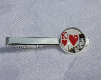 King of Hearts Poker Tie Clip
