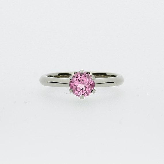 Light pink engagement rings