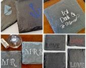 100 Wedding Favor Coasters - Bulk Wedding, Party, Event, Fundraiser, Engagement, Birthday