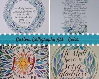 Custom Calligraphy Art - Color
