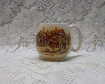 Vintage Creamer English Ware Lancaster LTD Ye Olden Days Miniature Pitcher Ceramic