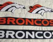 """Denver Bronco's """"NO SEW"""" Appliques"""