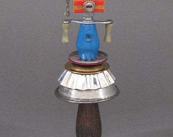 ASSEMBLAGE ART DOLL - Mix media assemblage, Mix media art doll, Found object art doll - Ava