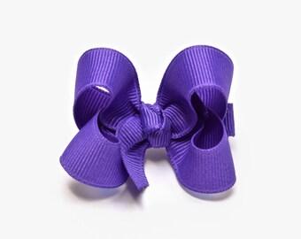 Periwinkle Purple hair bow, 2 inch Girls Hair Bow, Baby Girl Hair Bow, Alligator clip, Snap clip, Barrette, 200