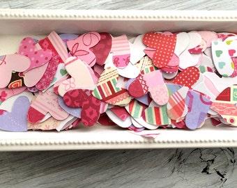 Paper hearts, Valentine hearta confetti pack of 50 1 inch