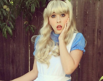 Alice in Wonderland Blonde Bang Wig