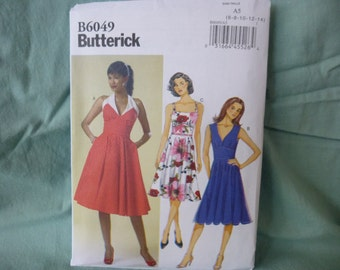 Butterick 6049: 1950's inspired/Modern Dress with 3 Bodice variations