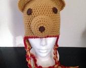 Honey Bear Earflap Hat