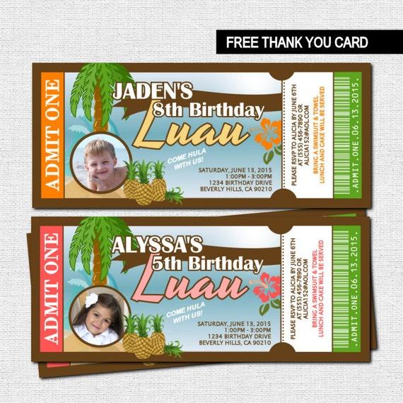 Hawaiian Invitations Free is awesome invitation sample