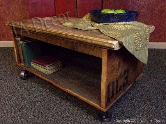 cart coffee table with storage barnwood coffee table by iadecor. Black Bedroom Furniture Sets. Home Design Ideas