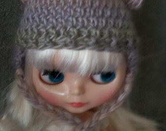 Cute Cap with Bear Ears Hat for Blythe Doll.  Choose your colorway Shown in Springtime