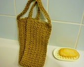 BEST SELLER! Back scrub. Crocheted Jute body scrub for bath or shower. Exfoliating scrubbing strap. Made to order