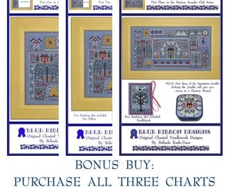 Blue Jeans and Daisies - Bundle (All 3 Charts) Cross Stitch Design