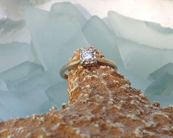 FINAL SALE Solid 14k Yellow Gold .25ct Genuine and Natural Solitaire Diamond Engagement Ring - Size 6 Etsy andersonhs