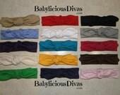 Pick 3 Jersey Knit Headband, Baby Headband, Top Knot Headband, Wrap Headband, Turban Headband, Knotted Headband, Knit Headband, Headwrap