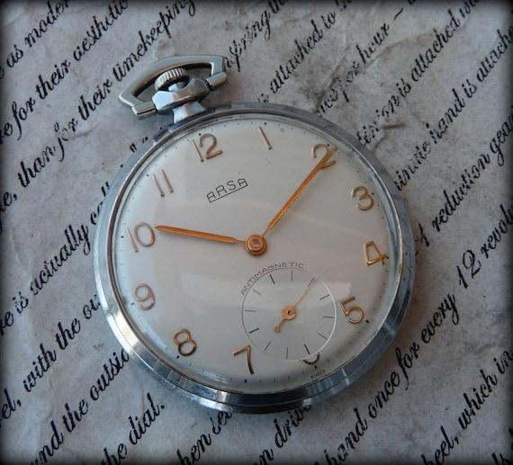 swiss art deko pocket watch arsa1940 39 s antique watch. Black Bedroom Furniture Sets. Home Design Ideas