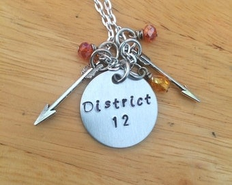 Hunger Games, District 12, Hunger Games Necklace, Charm Necklace