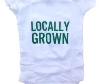Baby Bodysuit Crawler, Locally Grown, Level Apparel, vegan Onesie, Onesies, Babies, Screen Printed, Onesie, Unisex baby clothes, bodysuit
