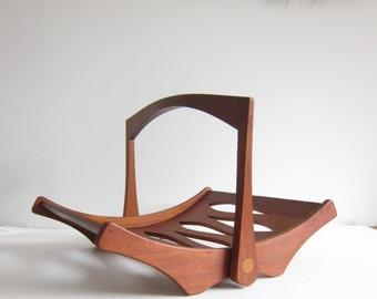 ON SALE Jens Quistgaard for Dansk Design Staved Teak Magazine Rack