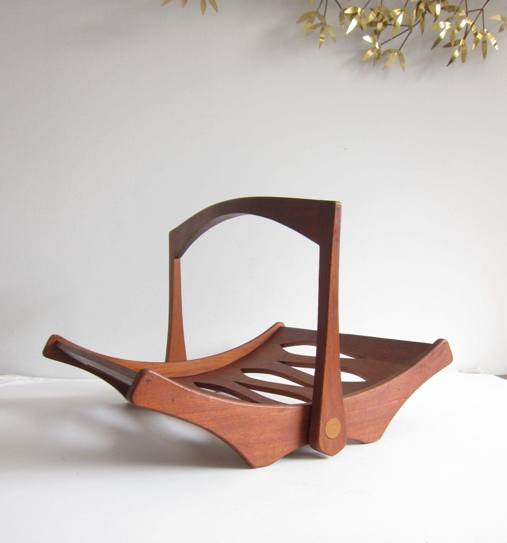 Jens Quistgaard For Dansk Design Staved Teak Magazine Rack