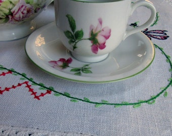 Child's Tea Set for Two, Pink Rose, Bareuther Waldsassen, Bavaria