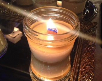 Mason Jar Wooden Wick Soy Candle, Hand Poured in Brooklyn