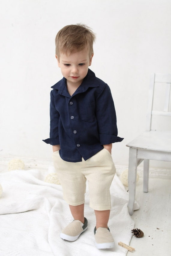 Baby Boy Shorts Toddler Boys Pants Linen Shorts Ivory Linen