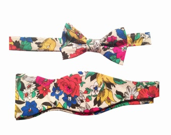 Father Son Bow Tie Sets - Vintage Floral - Easter - New Dad