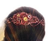 Copper Wire Wrap Steampunk Headband