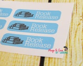 Book Release Planner Sticker - Size Customize-able