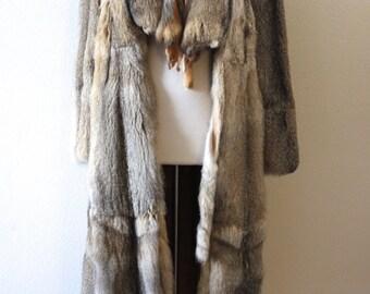Vintage 1970s Rare Chic And Elegant Long Fur Jacket