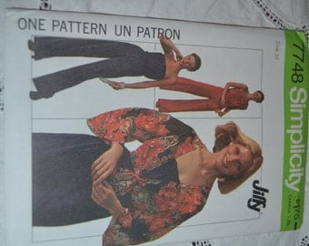 Simplicity 7748 Misses Jumpsuit and unlined jacket Sewing Pattern - UNCUT - Size 6 and 8 or  or Size 10