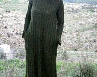 women's autumn winter dress, pixie dress, long sweater dress, maxi winter sweater dress