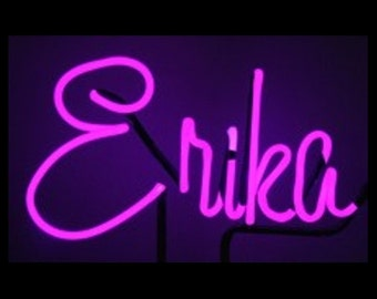 Neon Name or Word Custom Neon Freestanding Name Art Sculpture - Your Name in Neon, 3 to 7 letters - A Great Gift!!!