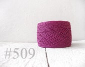Linen crochet knitting weaving thread  - radiant orchid color # 509 knitting yarn for lace projects