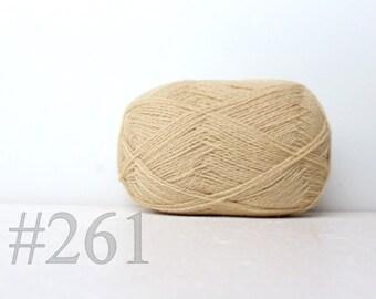 WOOL yarn 100%-Wool for knitting, crochet - cream #261