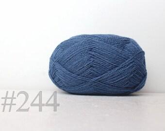 WOOL yarn 100%-Wool for knitting, crochet - bue cloud #244